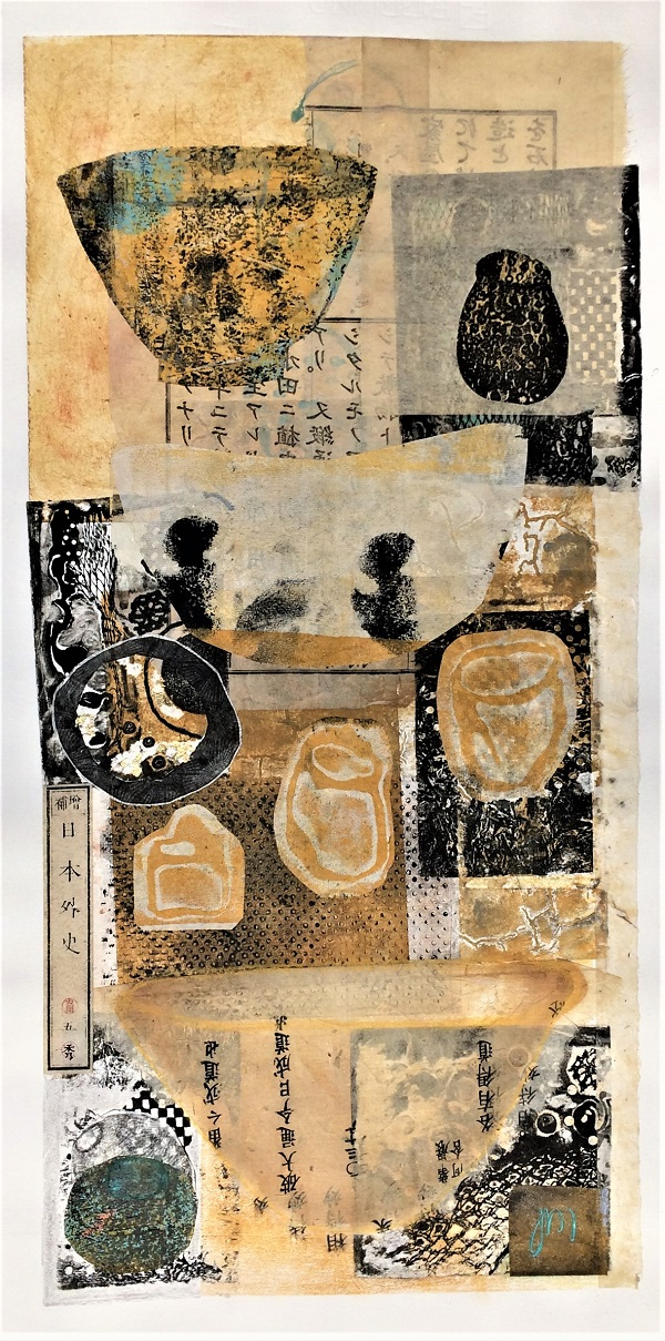 A Collection Mixed media  - collage, print & chine colle Framed       SOLD