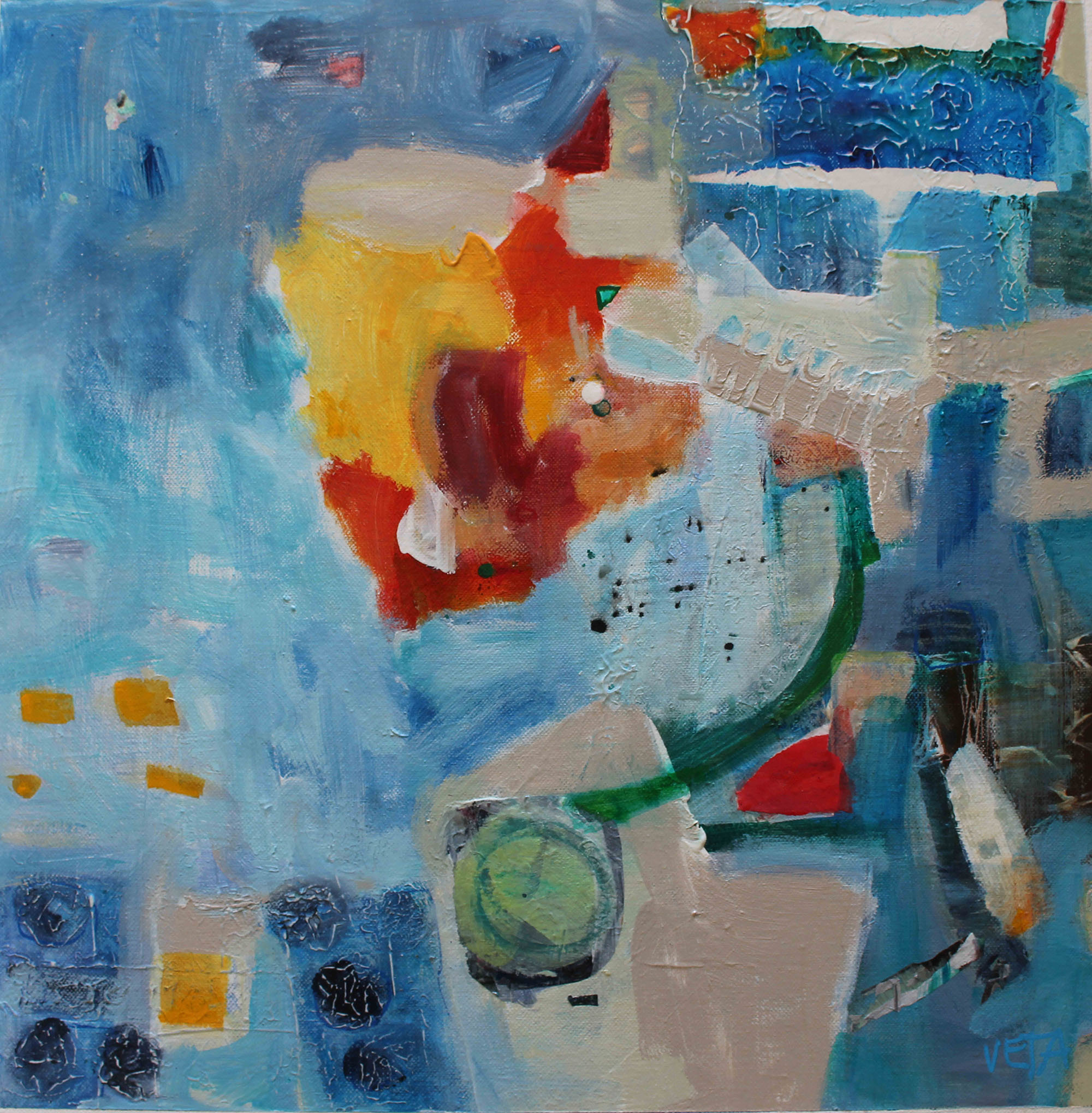 Adventure in blue 600x600 Mixed Media on canvas $690