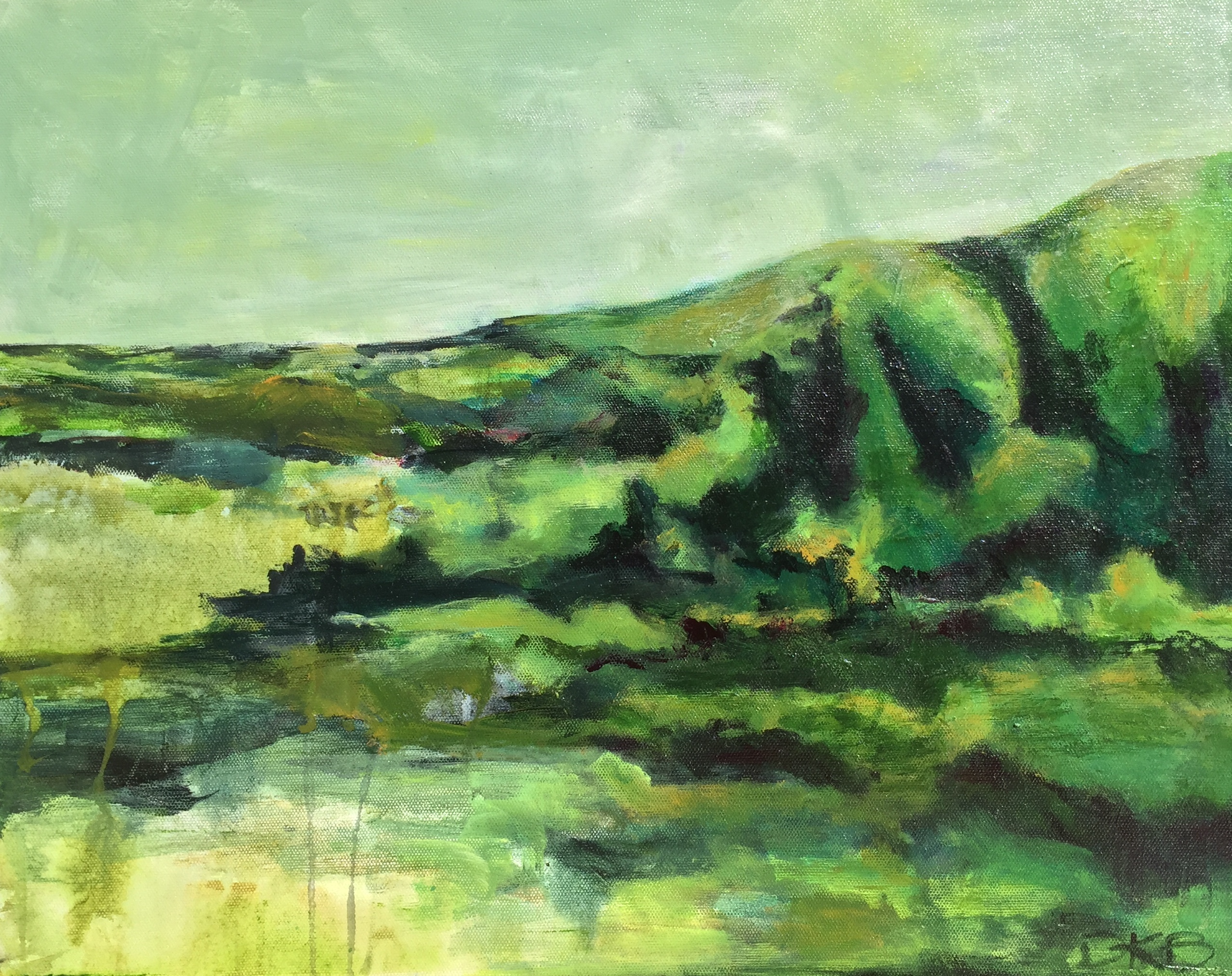 Aongatete Valley 2  Acrylic on Canvas 400mm x 510mm  $395