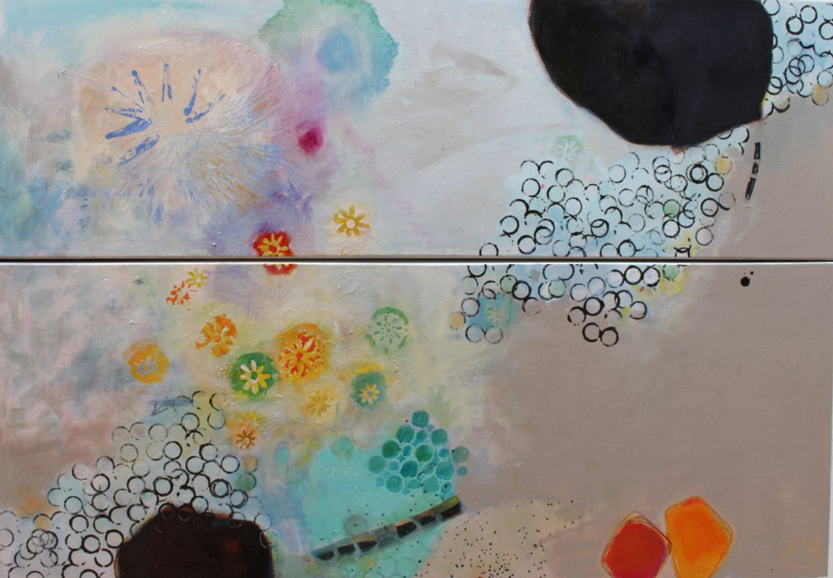 Champagne 1500x1100 Mixed Media on Canvas $1450
