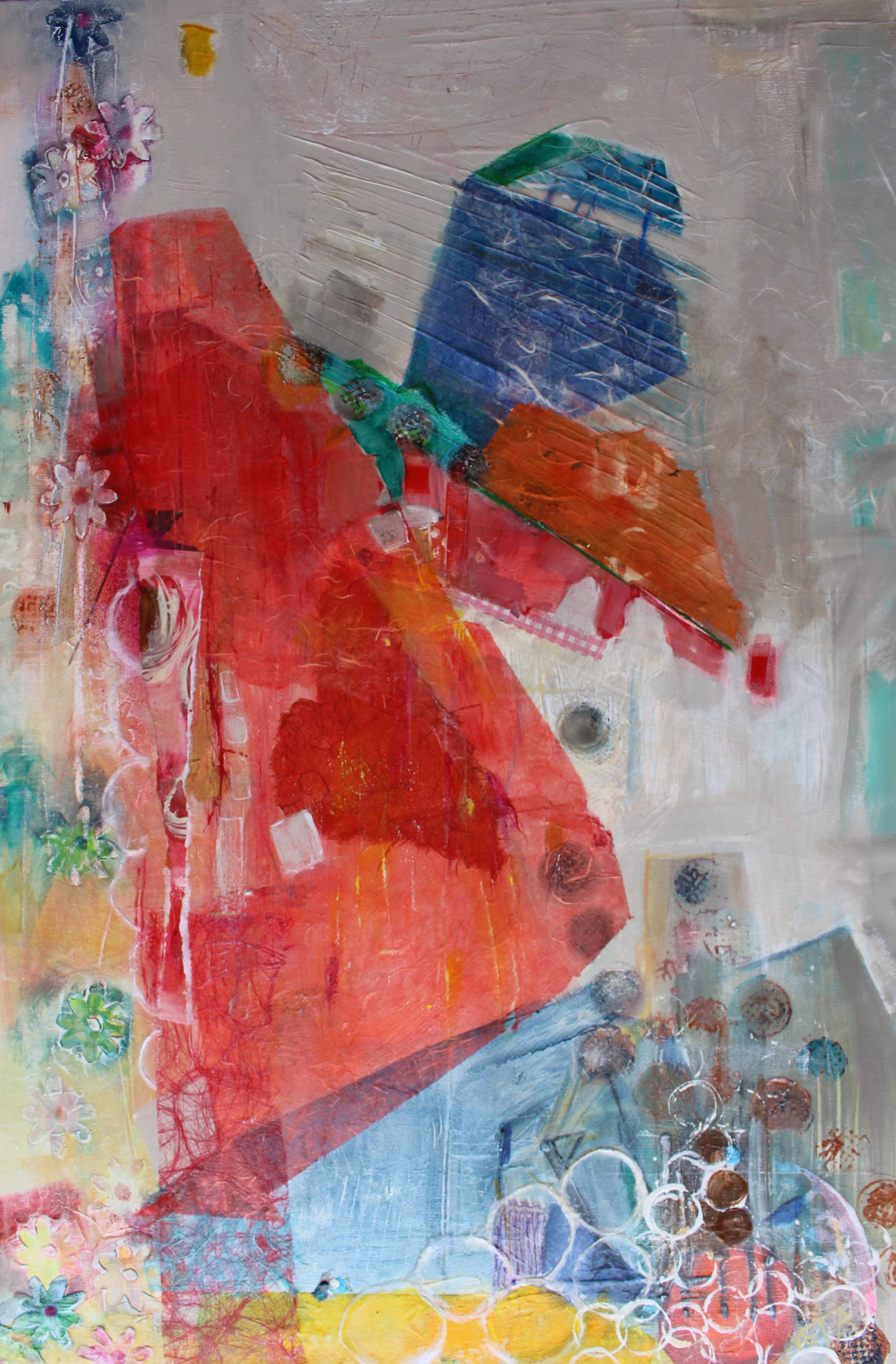 Cliff Hanger 610x920 Mixed Media Canvas sold