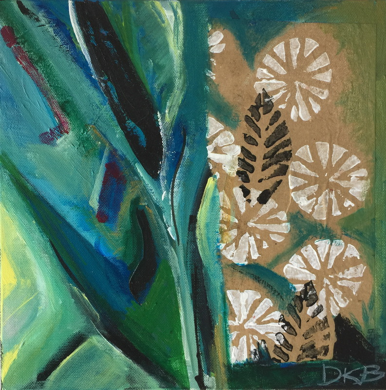 Dandelions by the Coast Mixed media on canvas 310x310mm $195