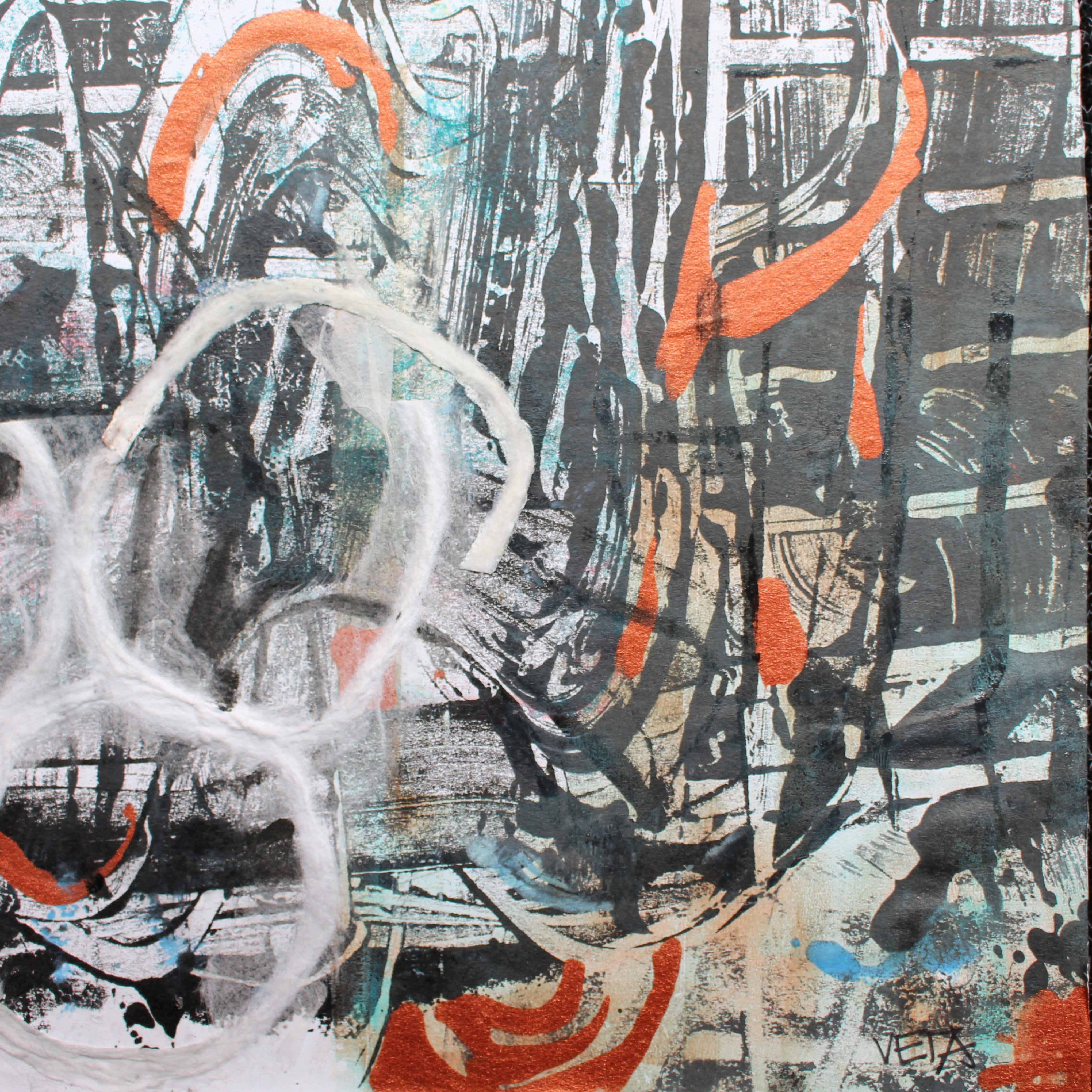 Dynamic life 3  185 x 185 mm Acrylic on card - framed 160
