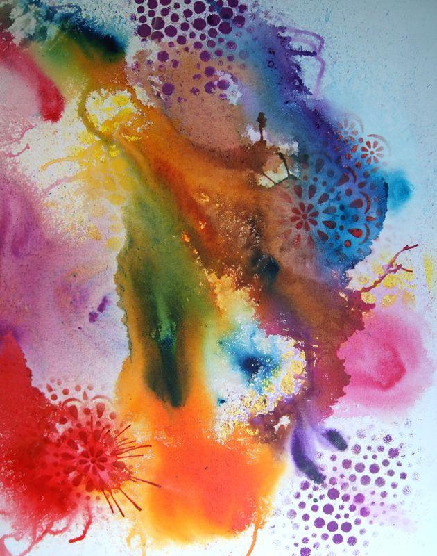 Enlighten 710x560 Mixed Media on canvas $850