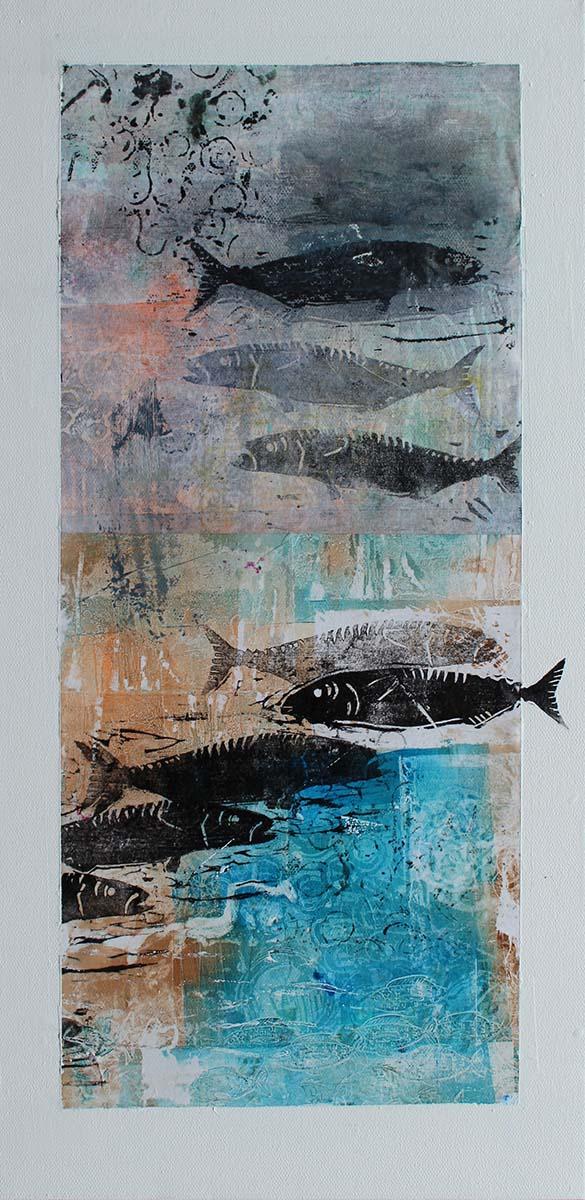 Fish 250x510mm Print / mixed 385