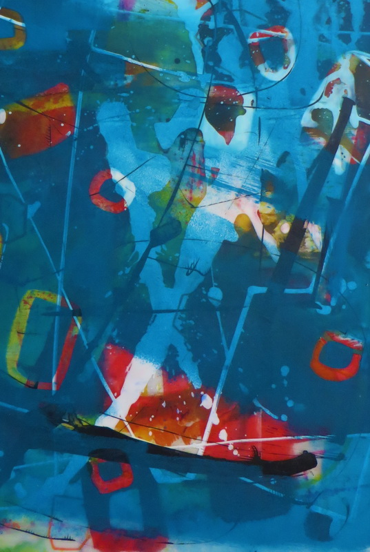 Just in Front Mixed media behind Glass 60 x 50 cm - SOLD -