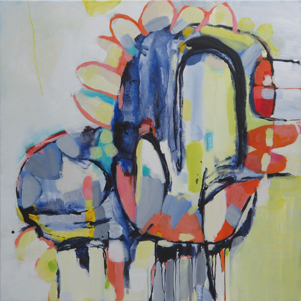 Daffodil Punch 1010x1010mm Acrylic on Canvas $1550
