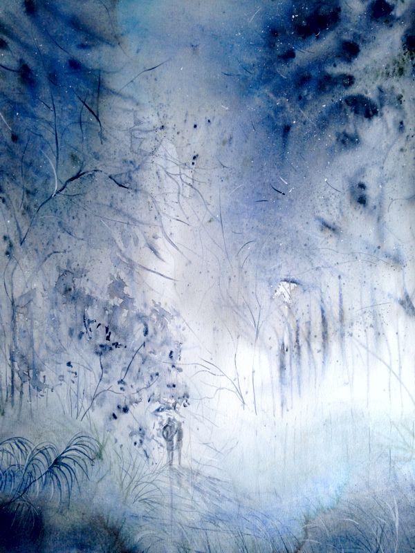 Coromandel Bush Walk Framed acrylic on paper 730 x 980 $1,100