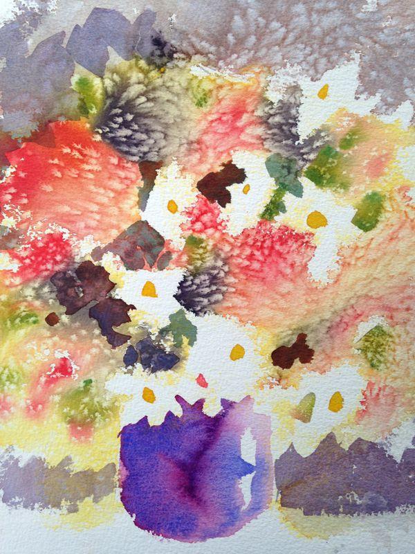 Morning Pickings 420 x 90 Unframed watercolour $150