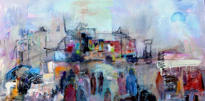 Mist in the City 2019  455 x 655 mm Mixed Media 725