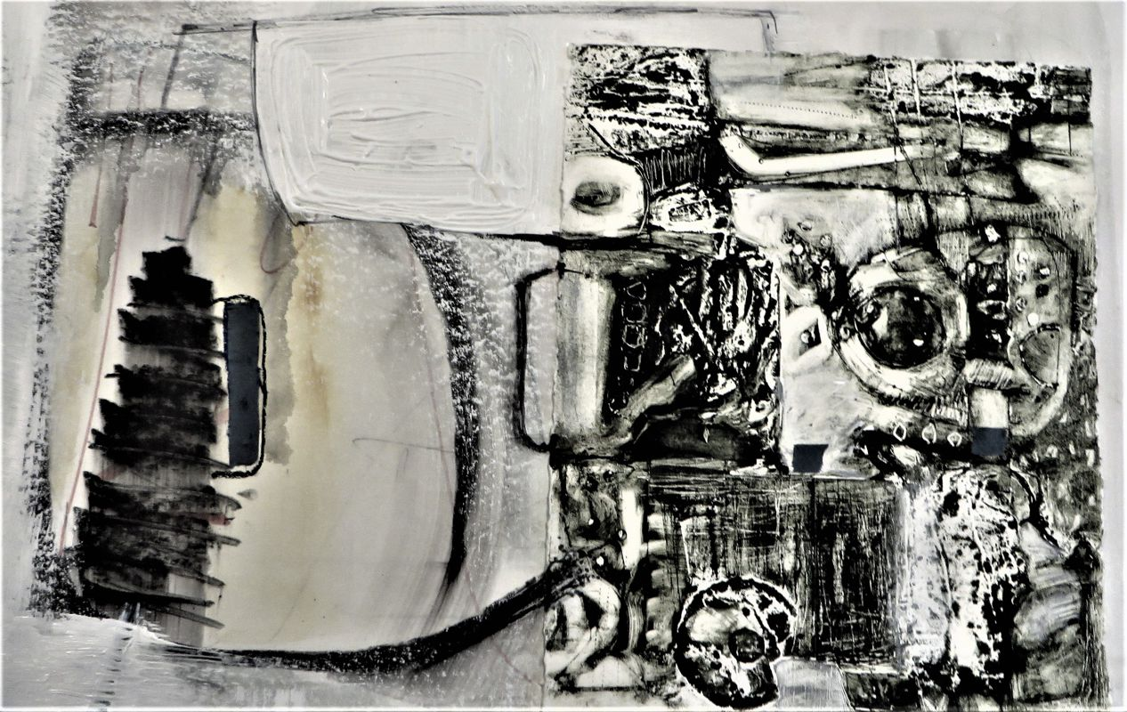 Re-construction Mixed media - SOLD -