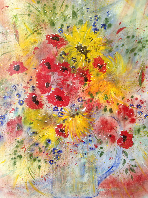 Summer Pickings 620x500 Framed acrylic on paper $950