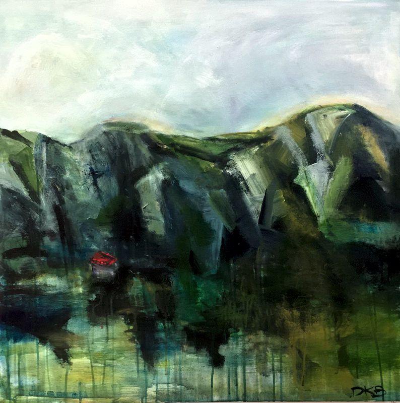 The Red Barn - Kauaeranga Valley Acrylic on canvas. 760x760mm $750 SOLD
