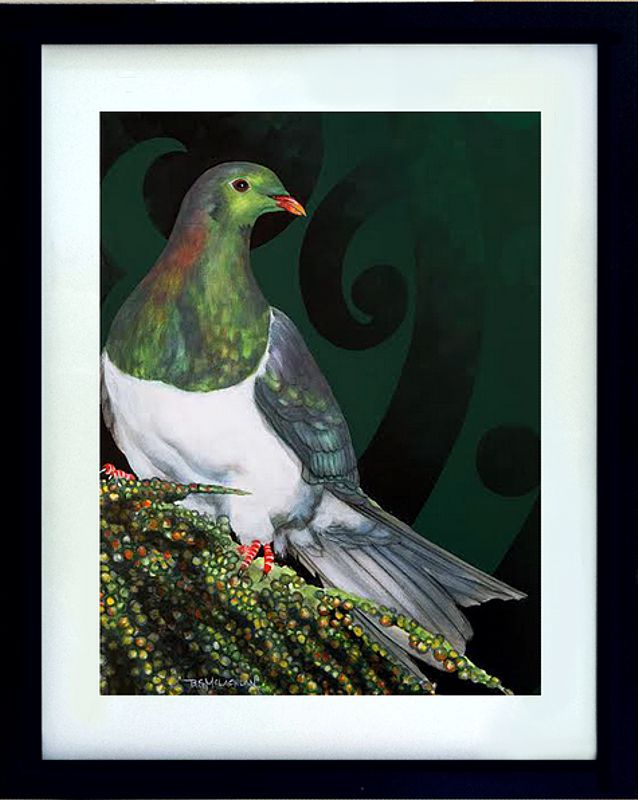 Wood Pigeon 400mm x 500mm acrylic on canvas $500