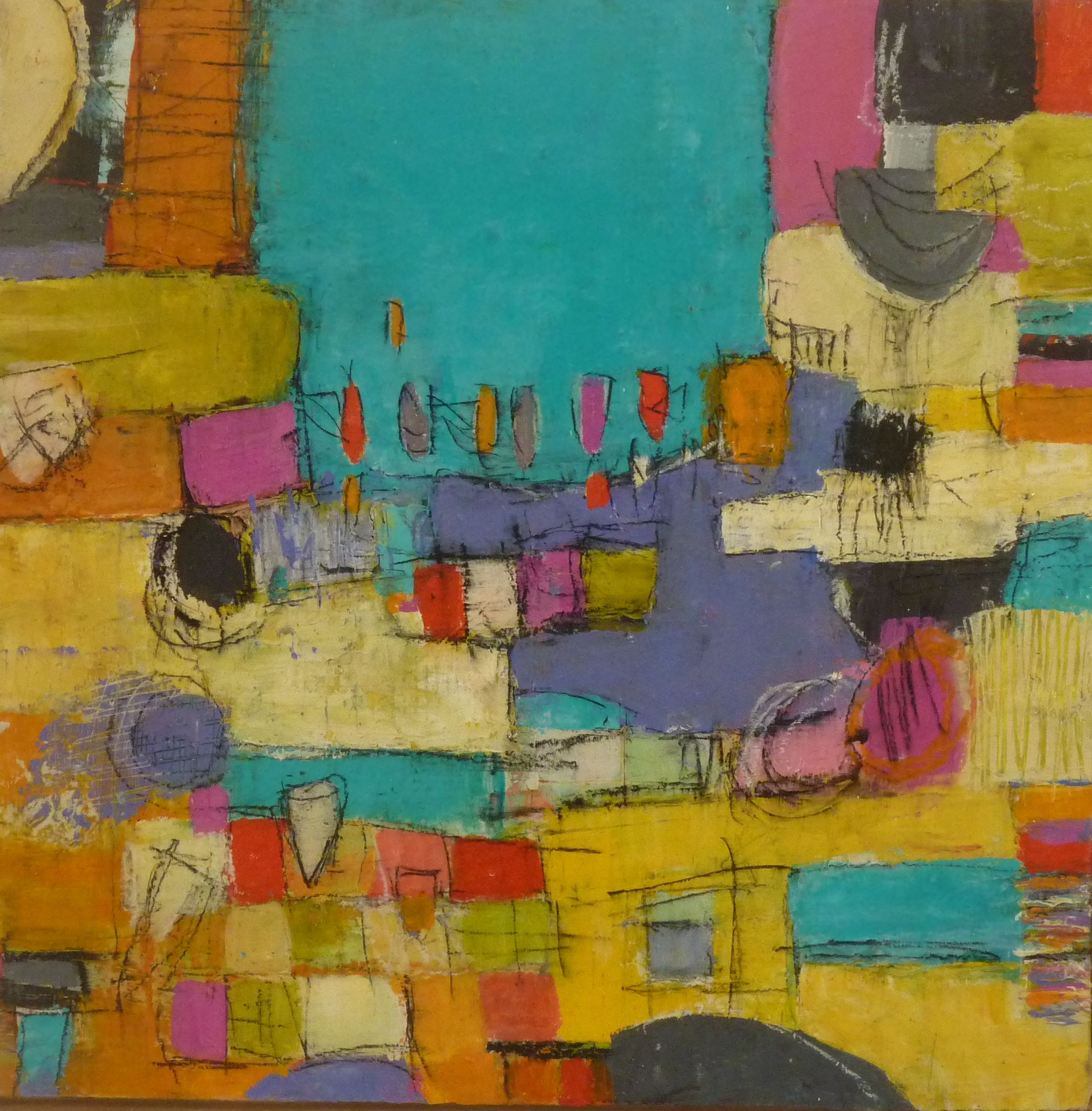 Boat Harbour 30x30 cm Acrylic/Mixed Media on Canvas $495