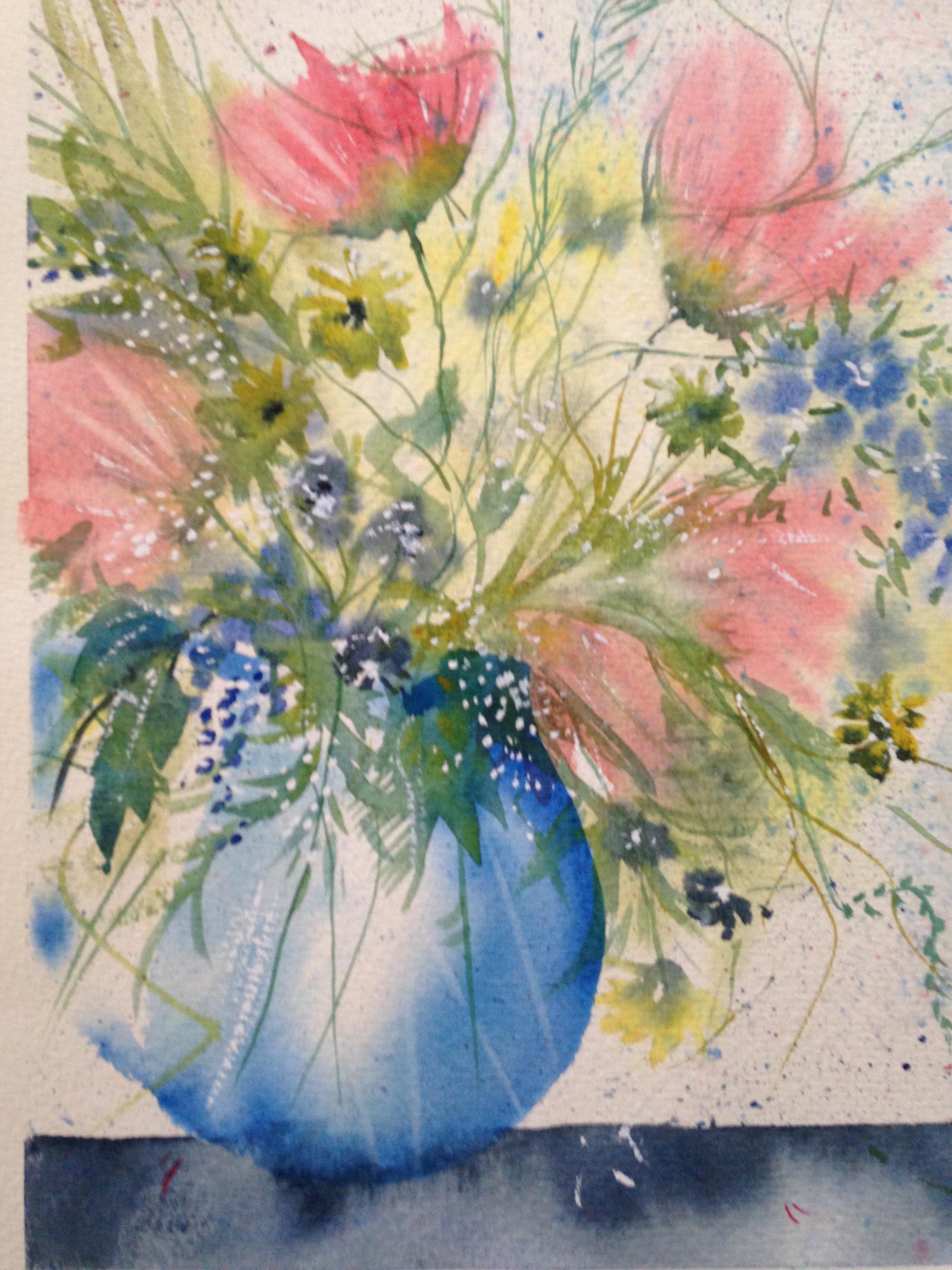 Blue Vase. Unframed $250