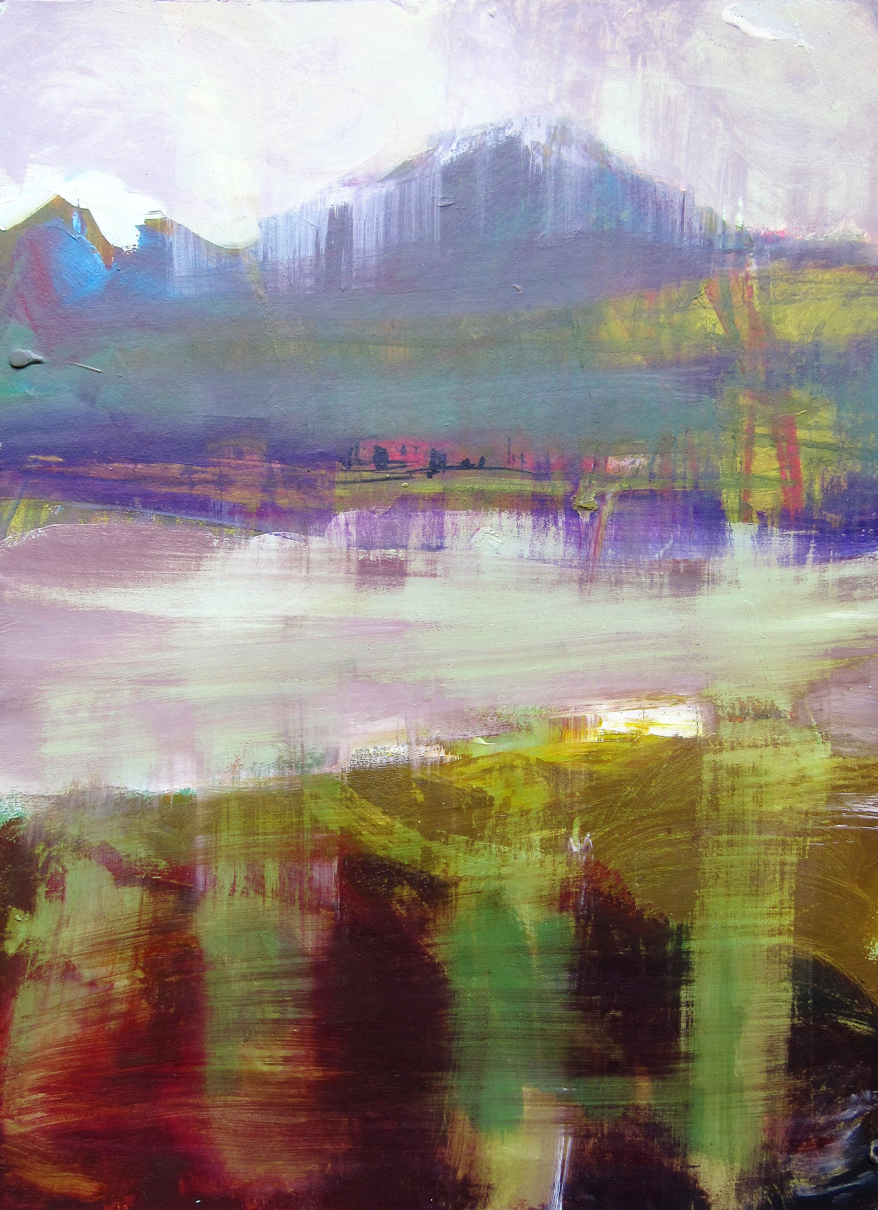 Estuary Baches Acrylic. Framed. Size 440 x 330 mm Price $900.