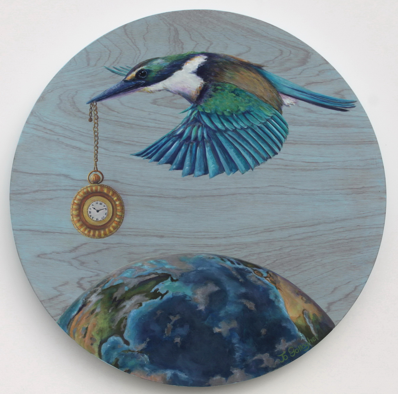 How Time Flies 500mm acrylic on plywood board $895.00