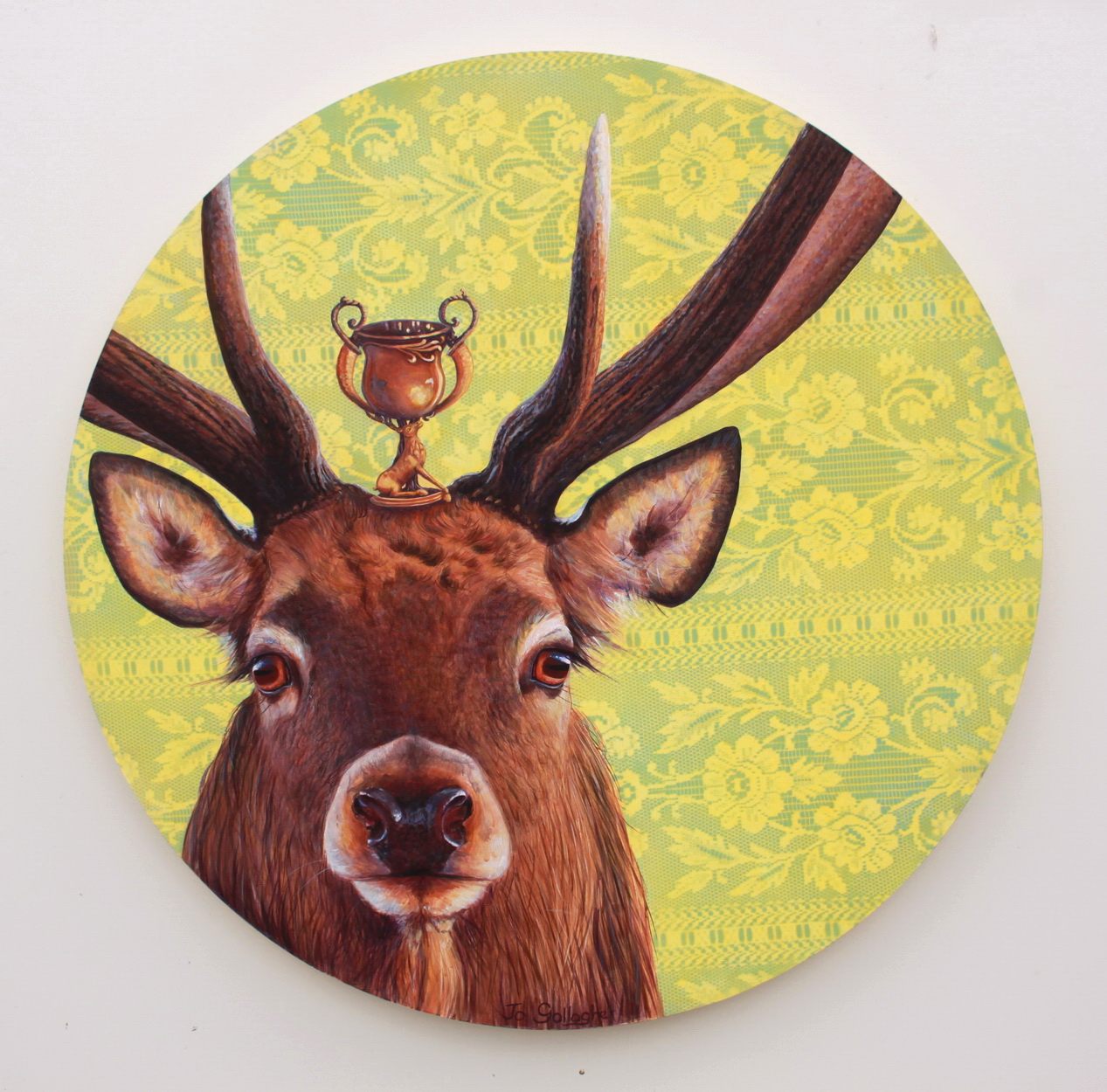 The Trophy Stag 800mm acrylic on plywood board $1750.00  SOLD