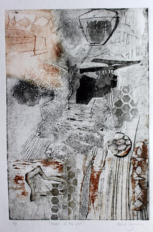 Traces of the past Original art print 1/5 300x400 framed $ 420