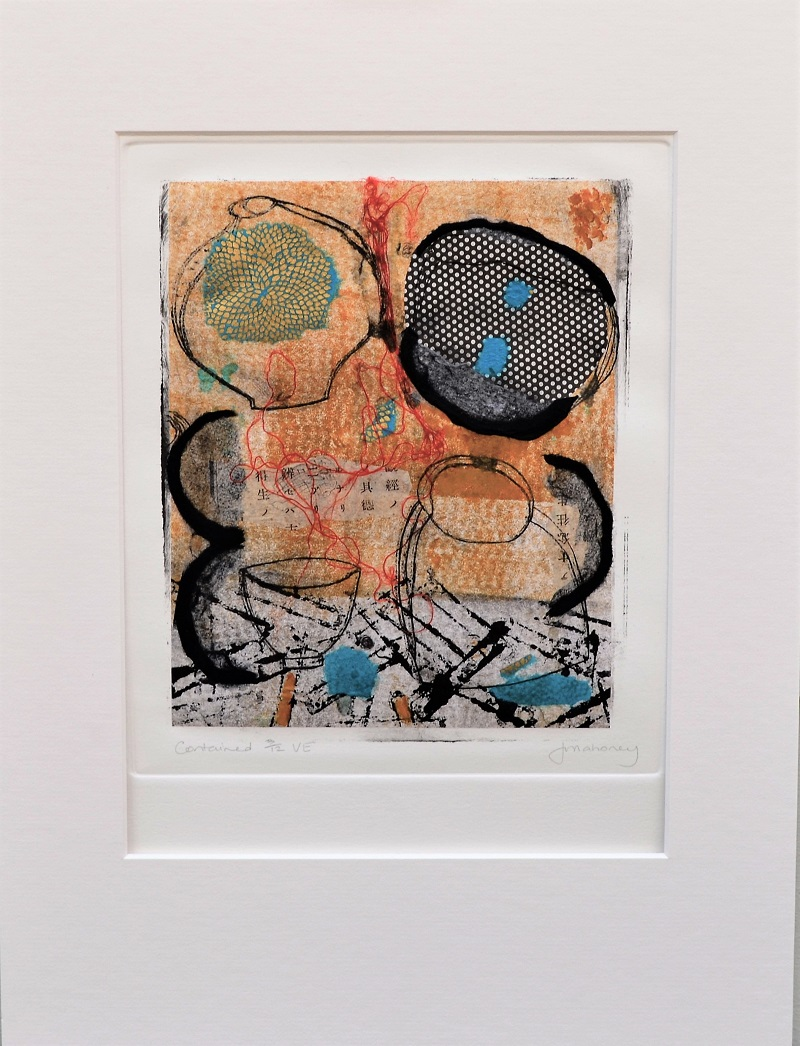 <strong>Contained 3/12 VE<strong> Dry point, Chine Colle & Mixed Media 430mm H x 330mm W - Framed SOLD