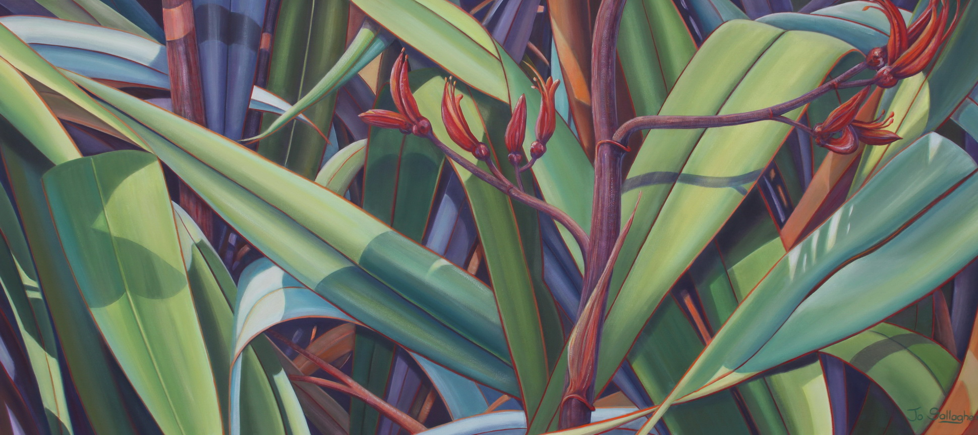 Woven Promise  acrylic on canvas 1350x610mm $2550.00  SOLD