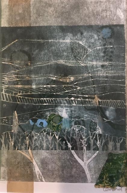 The Land Eclipse Mixographia 38cm x 48.5cm $480