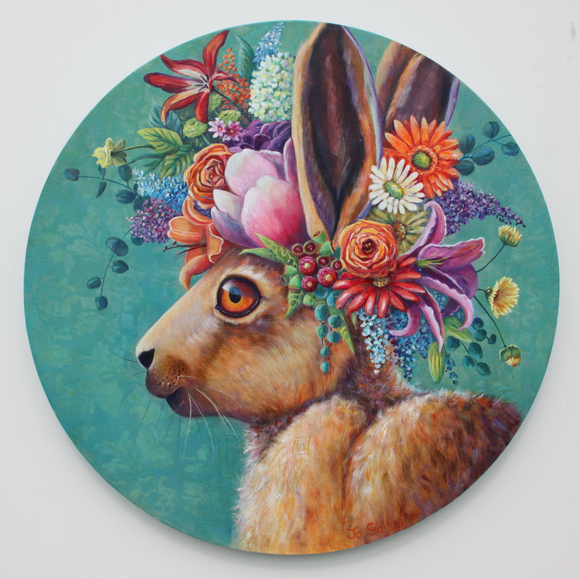 Flowers in her Hare 