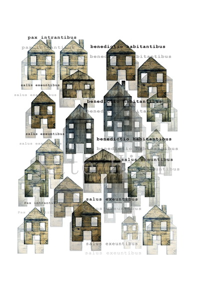 Bless This House Limited Edition Archival Pigment Print  490 x 630 mm White Frame  $495