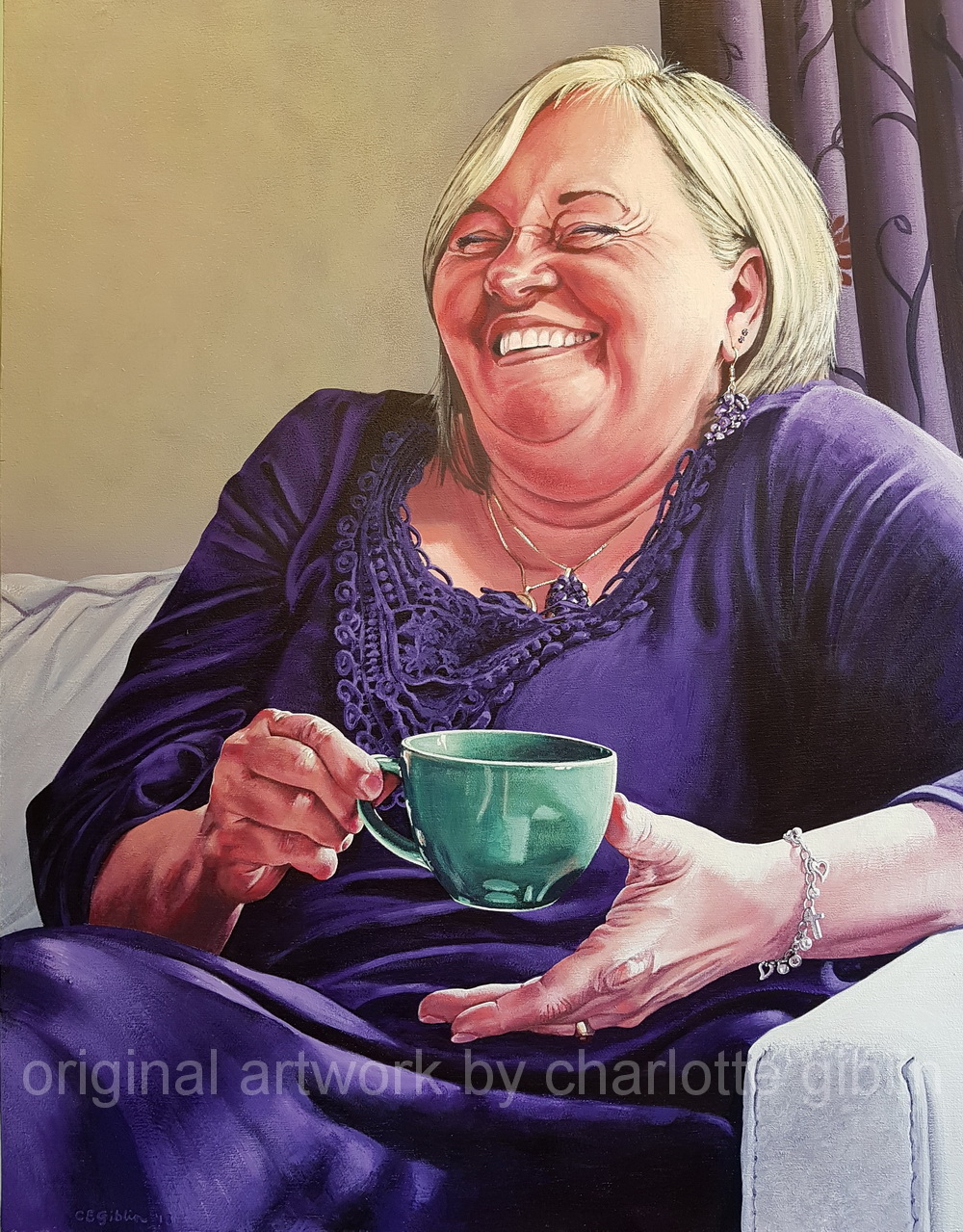 The Joy of Making Brigitte Laugh 900 x 700mm acrylic on ply frame $4,990