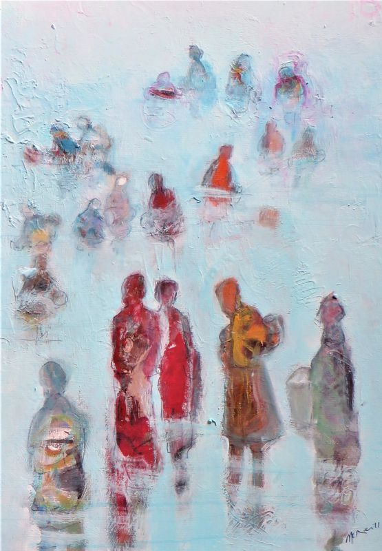Collecting Pipis in the Harbour - SOLD -