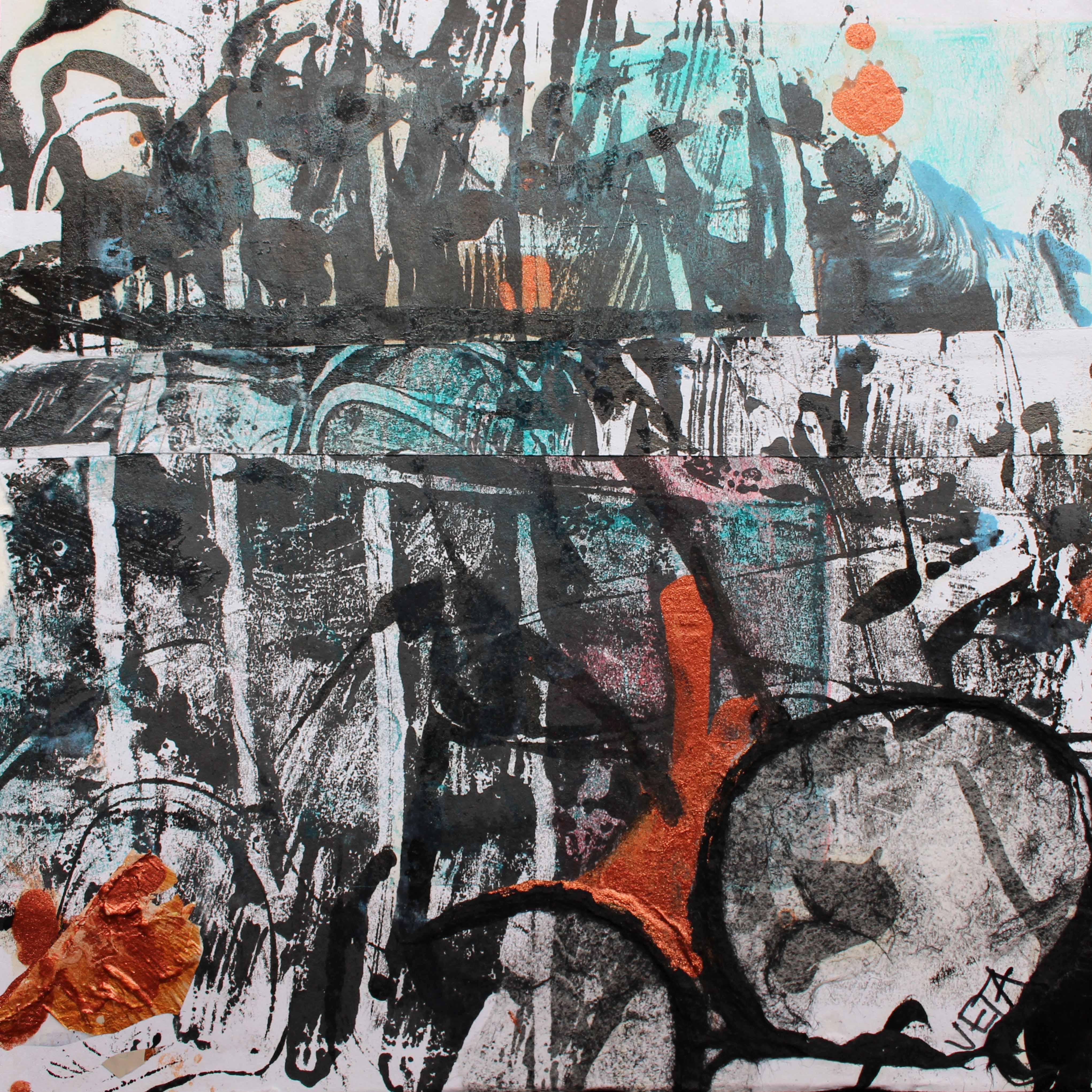 Dynamic life 1  185 x 185 mm Acrylic on card - framed  160
