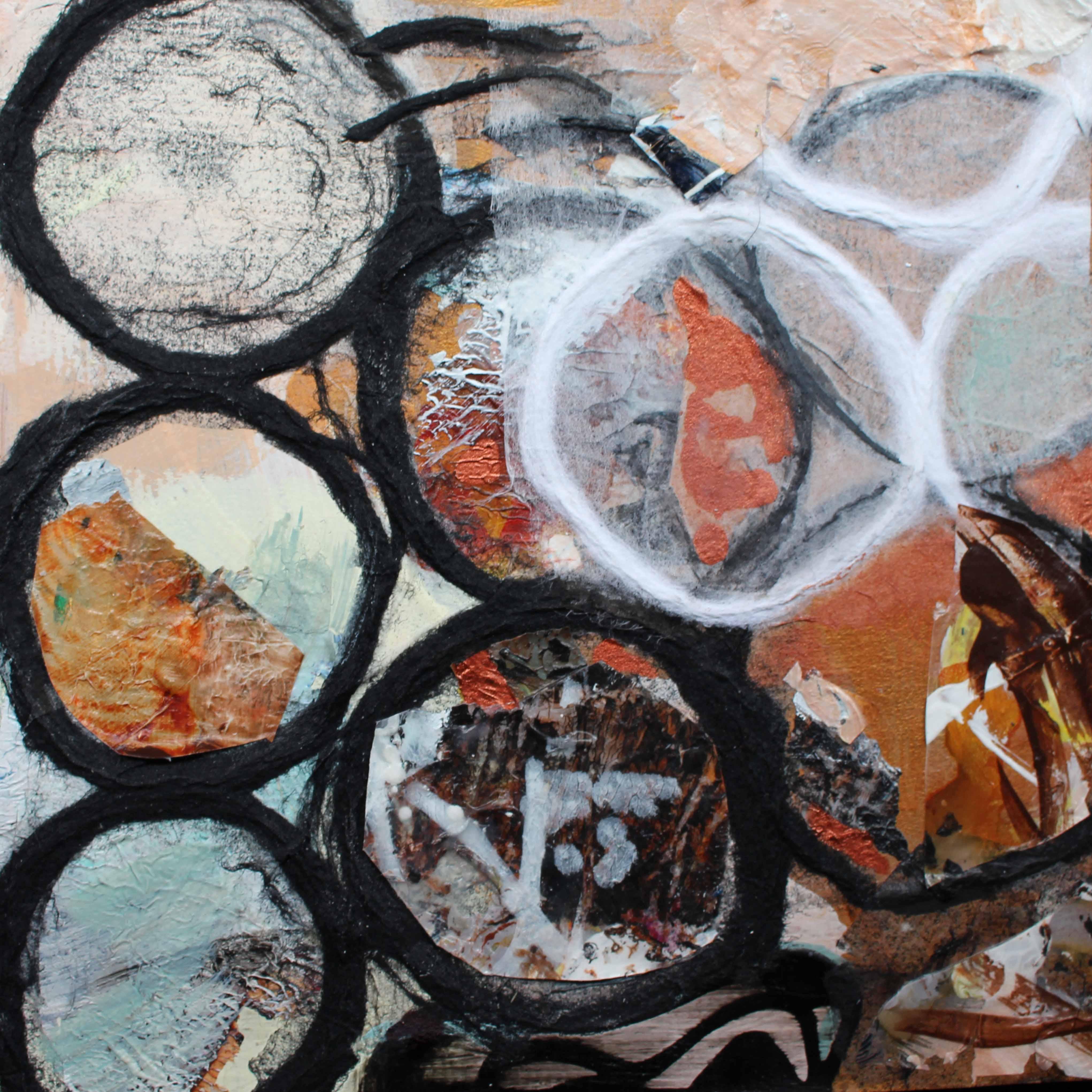 Dynamic life 2  185 x 185 mm Acrylic on card - framed  160