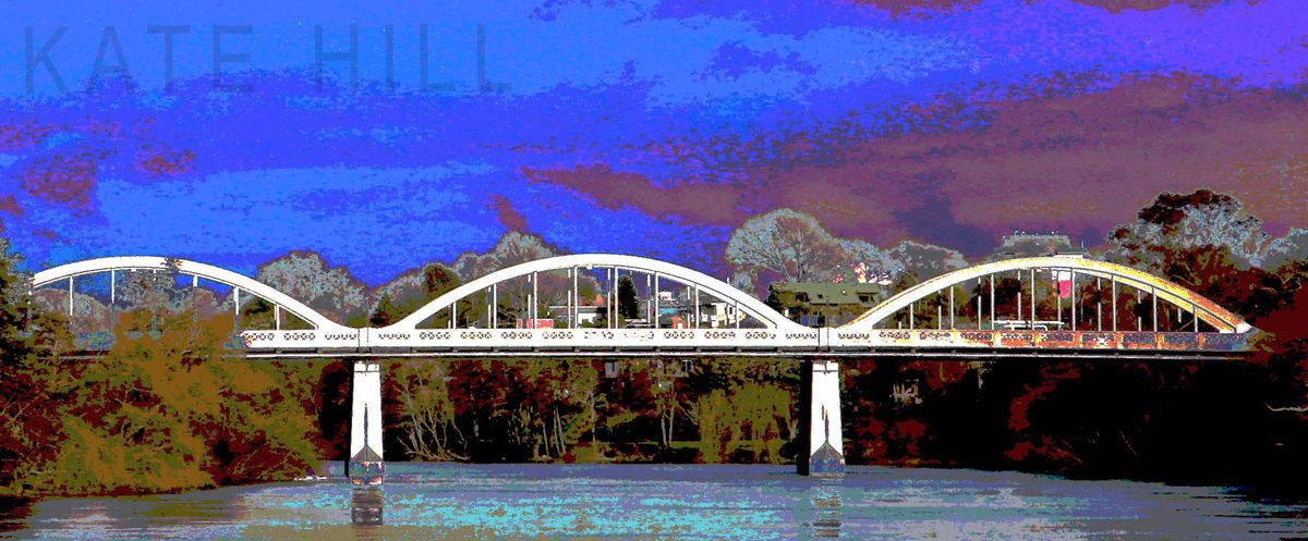 Fantastic on Fairfield  One of a series of featuring  the bridges of Hamilton.