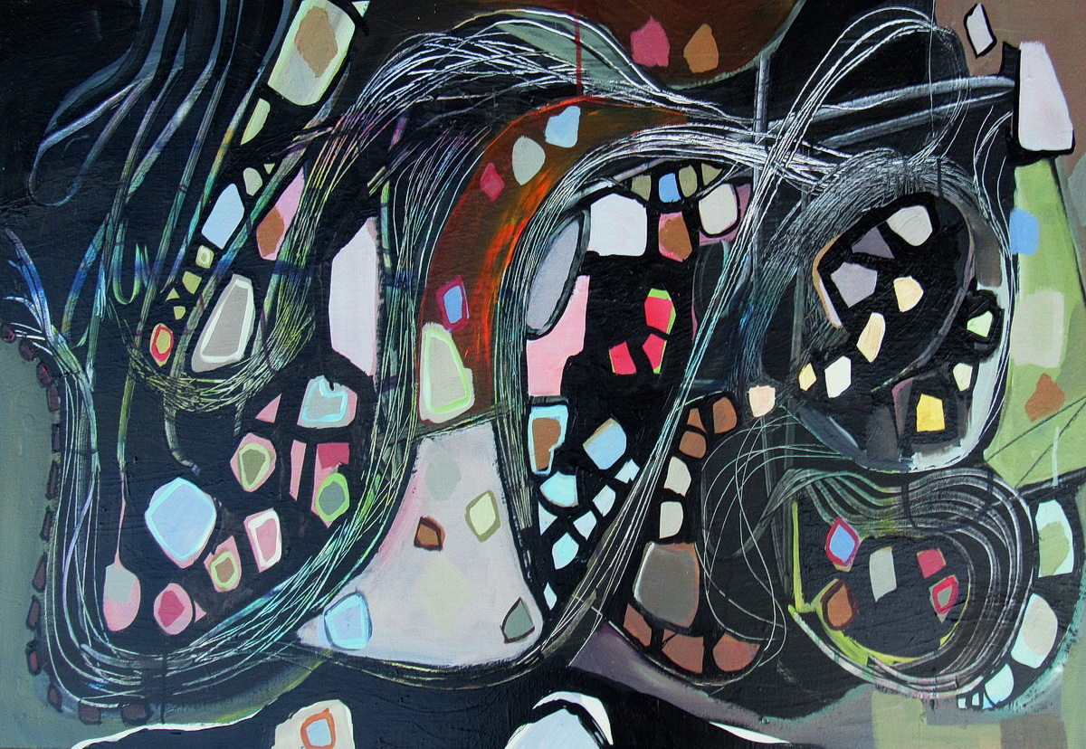 Flutter by Size 1030 x 500 mm Acrylic on canvas ready to hang  For Sale $2200 Free shipping in New Zealand
