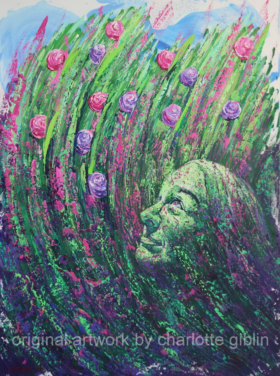Green Fairy Rising 1016 x 762mm acrylic on canvas $2,800