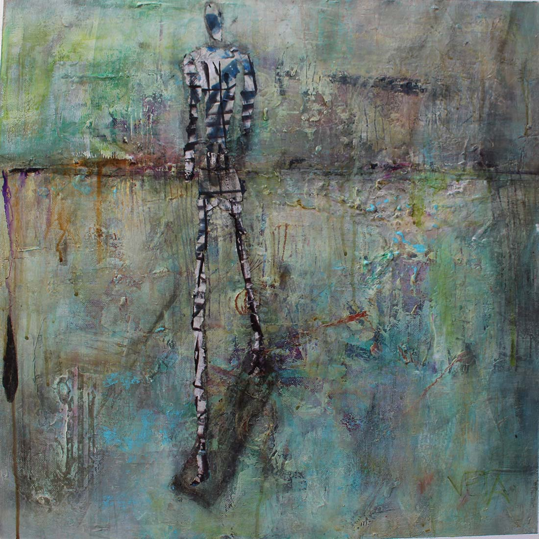 Hommage to AG 600x600 Mixed Media sold