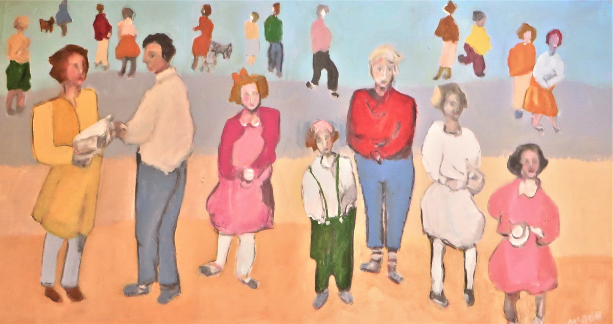 'It's fun being different'  Mixed Media on Stretched Canvas Framed - 50 cm x 100 cm $ 1400.00