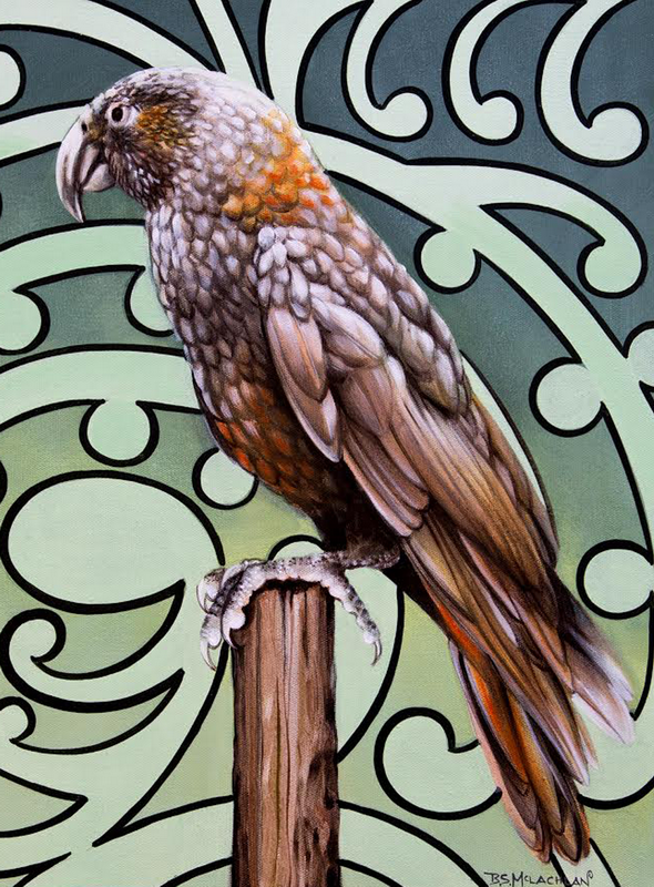 Kea 400mm x 500mm acrylic on canvas $500