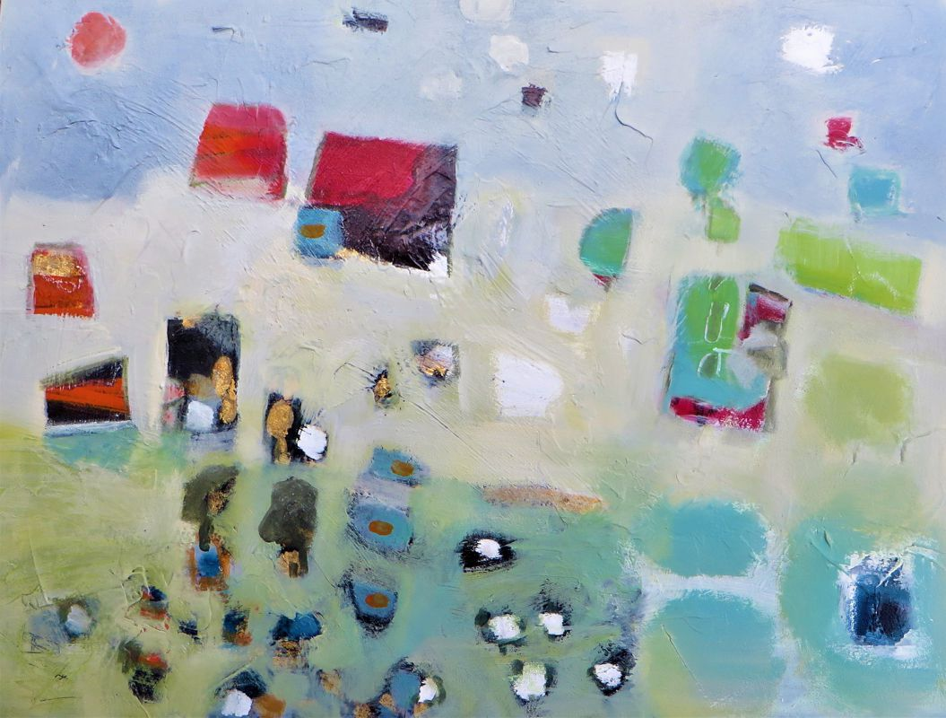 Landscape in Focus Mixed media – SOLD –