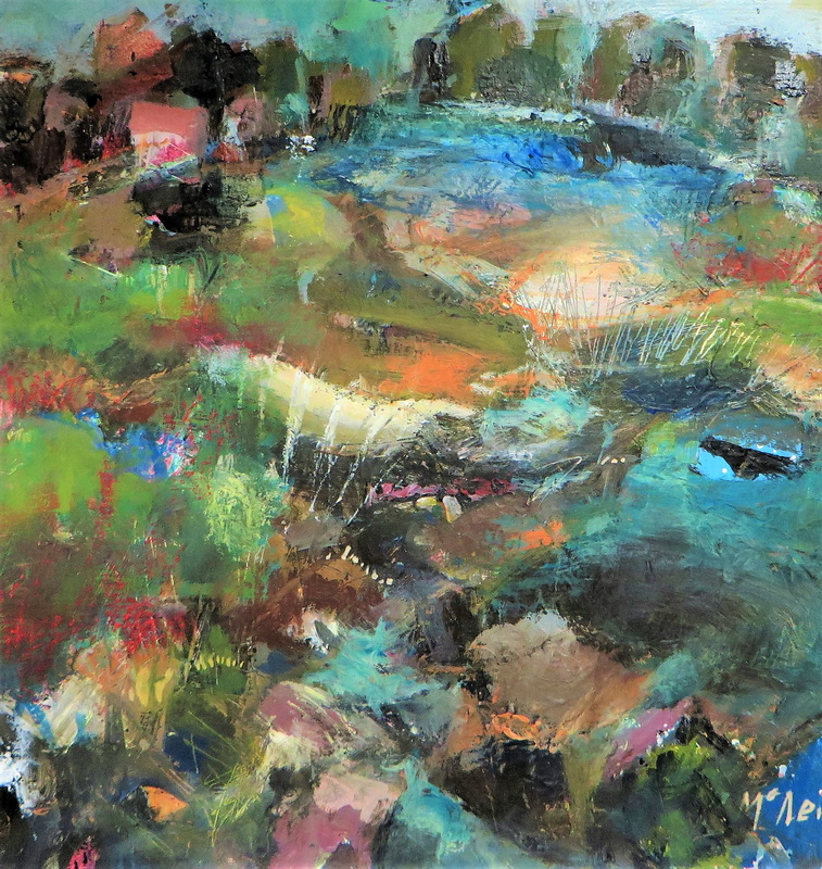 Left of the Lake Mixed Media on Board 30 x 40 cm