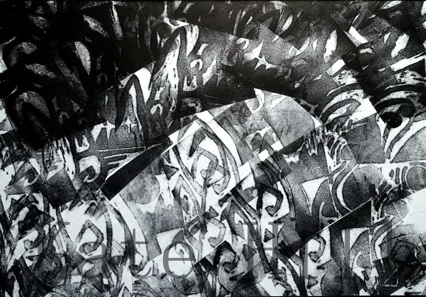 Light into Darkness Monoprint - 700 x 450 mm