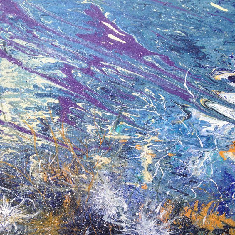 Beneath The Waves 510x510 Framed acrylic on canvas $ 900