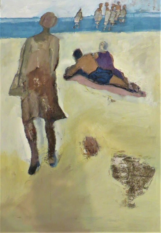 Not Dressed for the Beach Mixed Media on Board 60 x 60 cm