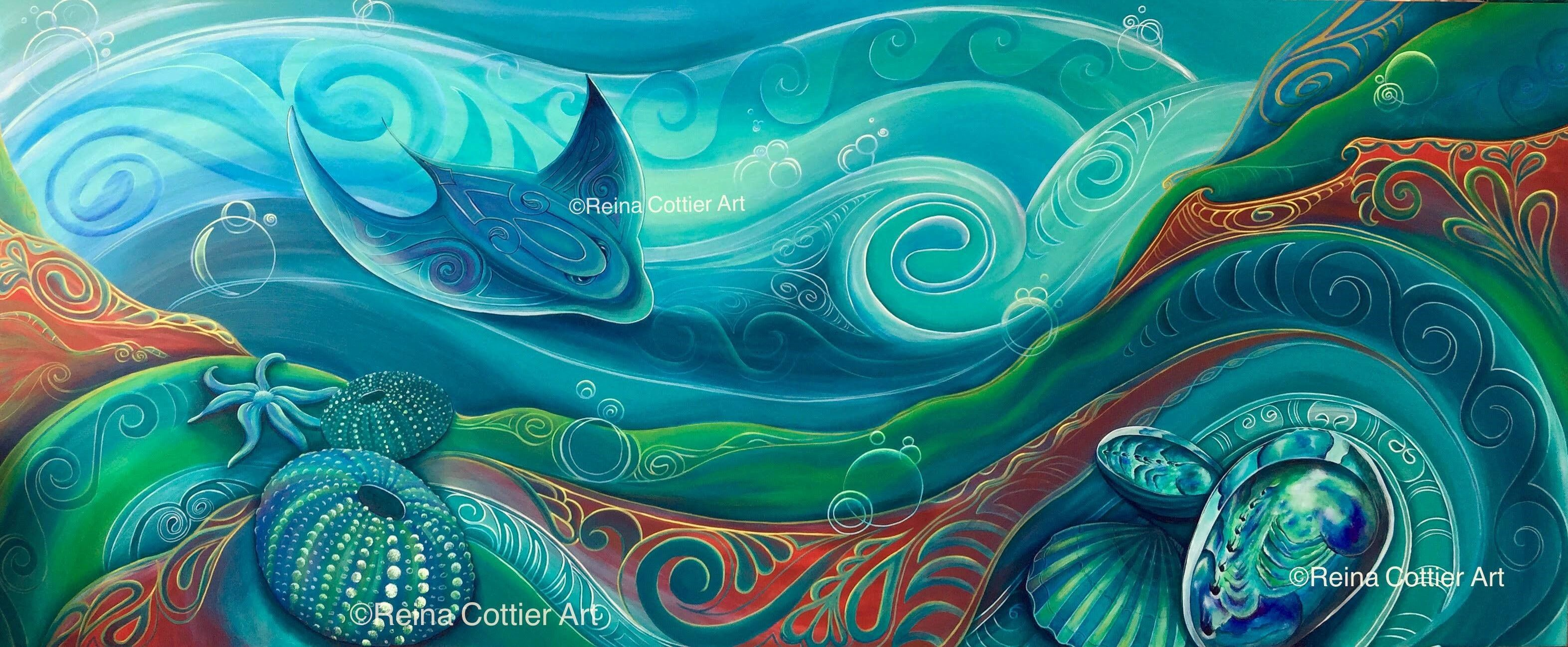 NZ Seabed. by Reina Cottier . Canvas Prints available.