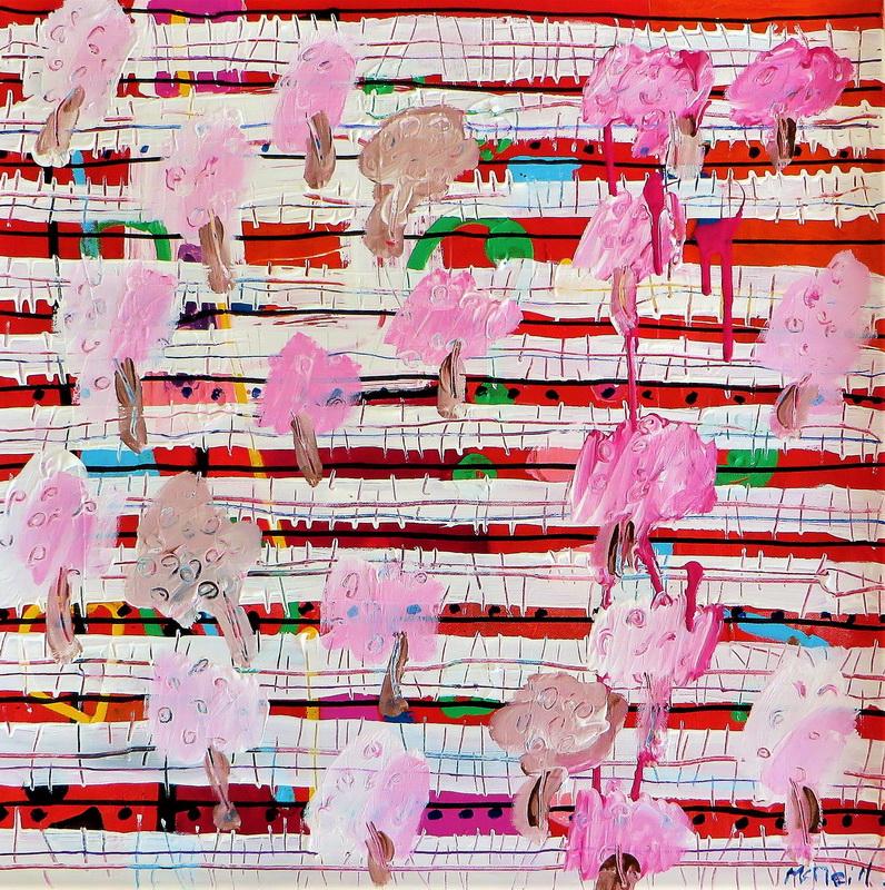 Springtime Mixed media on canvas 60 x 60 cm $ 1150.00