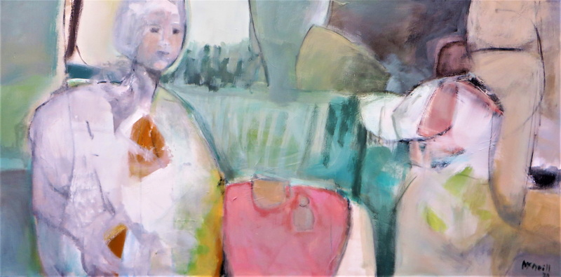The Act of Kindness Mixed Media 140 x 90 cm