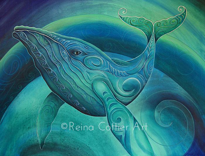 Tohora (Whale) by Reina Cottier. Canvas Prints available.