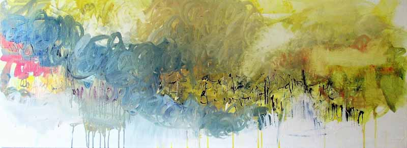 Storm clouds are gathering over global warming Acrylic on canvas ready to hang Size 1220 x 450mm Price $2160 free shipping in NZ