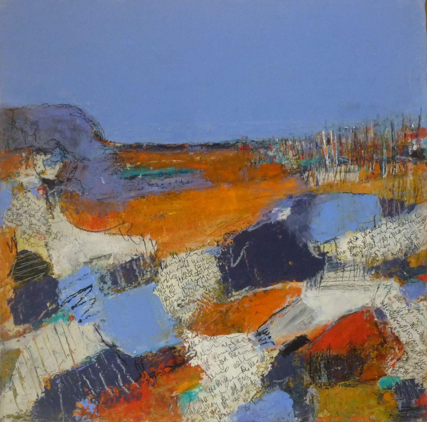Jacaranda Hills  40x40cm Acrylic/Mixed Media on Canvas $850